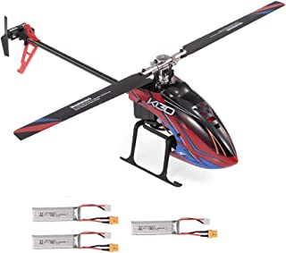 WLtoys XK K130-B RC Helicopter Brushless 3D6G Flyless FUTABA S-FHSS Stunt Helicopter with 3 Battery NO Remote Controller BNF