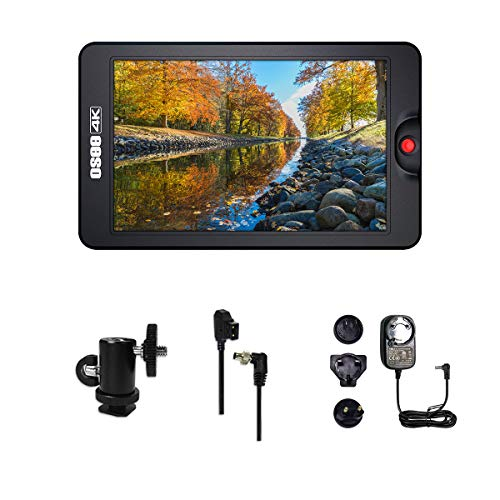 Osee T7 7'' Ultra-Bright 3000 Nits 1920×1200 Full HD 4K HDMI Camera Field Monitor Kit Including Ball Head Power Adaptor and D-tap Cable