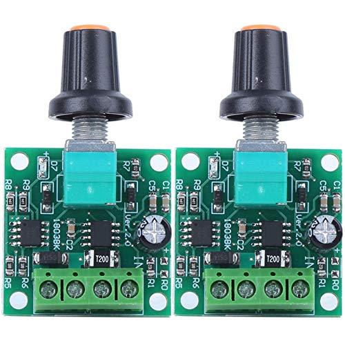 Controlador de velocidad del motor de CC, regulador de velocidad del motor, fusible de autorrecuperación de luz LED de potencia Durable para 1.8V 3V 5V 6V 12V 1803BK