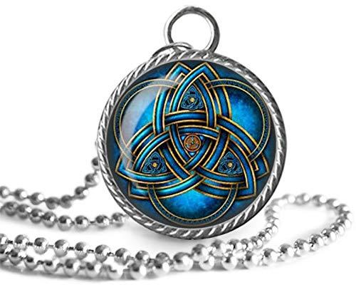 Collar triquetra, collar celta, símbolo de la Trinidad, colgante de imagen de nudo trinitario