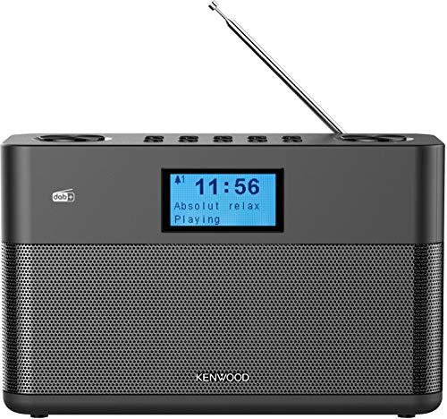 Kenwood CR-ST50DAB-B Stereo-Kompaktradio (DAB+, UKW, Bluetooth, Line-In, Kopfhöreranschluss, Weckfunktion, Farbe Schwarz)