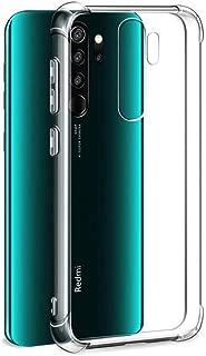 mobile store Armor Impact Xiaomi Redmi Note 8 Pro Uyumlu Kılıf, Darbelere Karşı Koruyucu, Şeffaf Silikon PVC Kapak