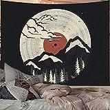 PYHQ Japanischer Abstrakter Berg Wandteppiche Wandbehang