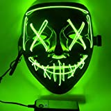 FZCRRDU KOCCAE LED Karneval Maske, LED Mask mit 3 Blitzmodi für Halloween Fasching Karneval Party...