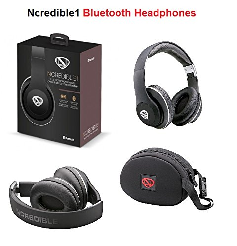 Ncredible1 Wireless Bluetooth Handsfree Headphones For IPhones And Samsung Galaxys Cell Phones | Black