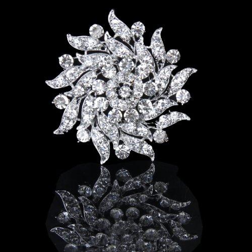 chiwanji Chic Braut Brosche Pin Sicherheitsschnalle Diamante Flower Corsage Brautkleid Dekor - 8#