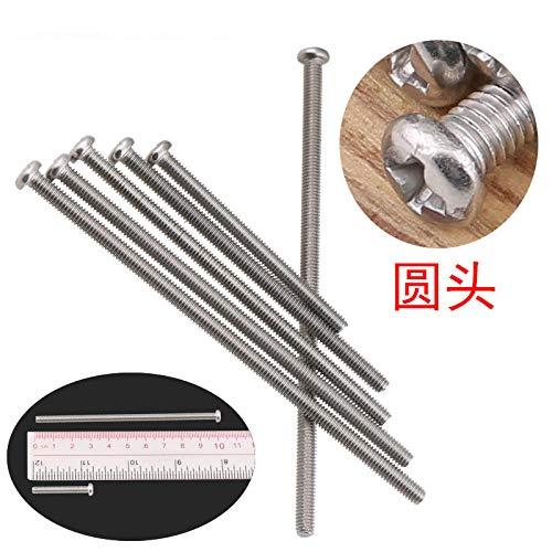 Stekkerdoos voor elektricien 86 ronde kop met kruisgleuf verlengd, 4-7cm 304 roestvrij staal Matériau 304 Tête Ronde 8 Cm (Cm) -20