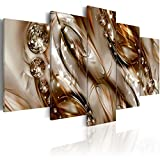 Konda Art - Large Size Framed Modern Abstract Canvas Wall Art Painting Decor HD Print Contemporary Artwork Hanging for Home Decorations Stretched and ready to hang (W60'x H30', Brown tide)
