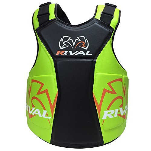 Rival Boxing The Shield Body Protector - Black/Lime by Rival Boxing