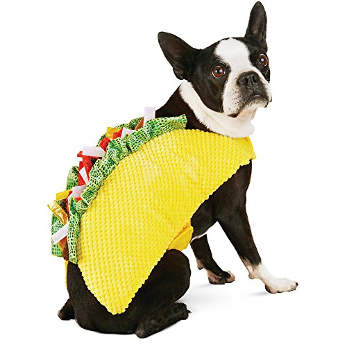 Halloween Bootique Taco Dog Costume, XS, X-Small, Yellow