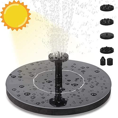 Molbory Solar Springbrunnen, Solar Teichpumpe Solar Wasserpumpe Fontäne Pumpe Solar Schwimmender mit 6 Fontänenstile für Gartenteiche, Fisch-Behälter, Vogel-Bad und Kleiner Teich