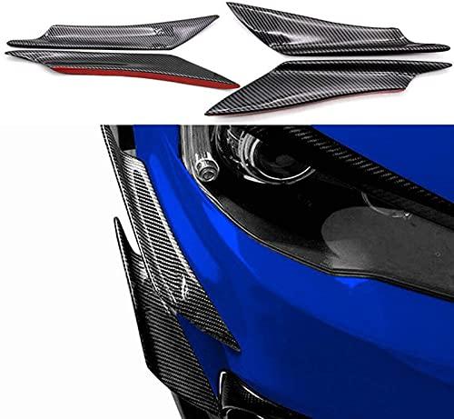 Aleta de fibra de carbono brillante para parachoques de coche Canard Splitter difusor Valence Spoiler USA