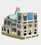 Pinnacle Peak Trading Company Notre Dame Cathedral Paris France Polish Glass Christmas Ornament Decoration