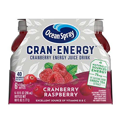 Ocean Spray Cran-Energy, Cranberry Raspberry Energy Juice Drink, 10 Ounce Bottle (Pack of 6)
