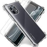 """Funda para Xiaomi MI 11 5G Transparente,Carcasa MI 11 6.81""""+2Pack Cristal Templado y Protector de..."""