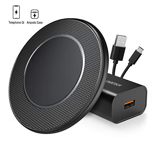 CHOETECH Wireless Charger, 15W Max Fast Wireless Charging Pad with QC 3.0 Adapter Compatible iPhone SE 2020/11/11 Pro Max/Xs Max/XR/X/8, Galaxy S20/Note 10/S10/S9/S8, LG V30/V35/G8, AirPods Pro