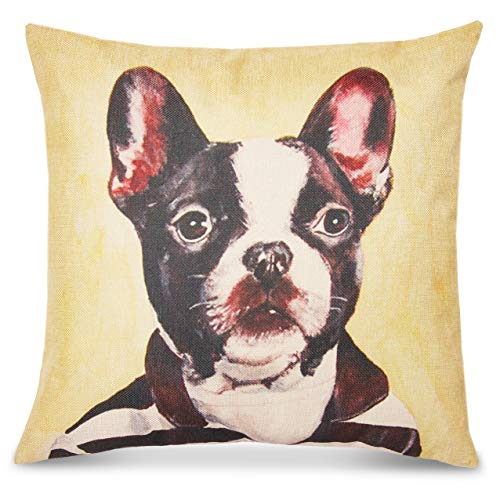 Okuna Outpost Dog Throw Pillow Cover, Decorative Pet Home Decor (18 x 18 in)