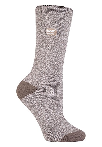 Heat Holders Lite - Damen Warme Dünn Thermosocken in 4 Farben 37-42 eur EUR, Braun / Creme, 37-42 EUR