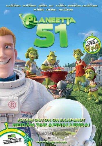 Planet 51 Poster Movie Finnish 11x17 Dwayne Johnson Jessica Biel Justin Long Gary Oldman