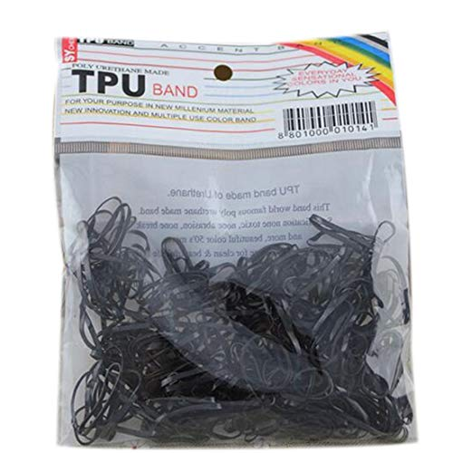 Heylookhere Creatieve Praktische Unieke Rubber Paardenstaart Houders Goede Elastische Haarband Vlechten Eenvoudige Hoofdband (Zwart)