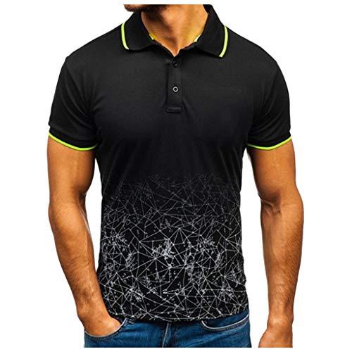 FONMA Fashion Men's Summer T Shirt Letter Printed Casual Slim Short Sleeve Top Blouse