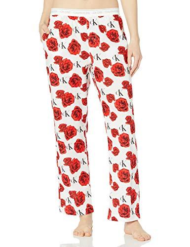 Calvin Klein Damen CK One Cotton Sleep Pant Pyjamahose, Charmantes Rosenmuster, Medium