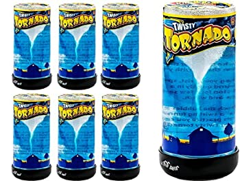 Tornado Maker Toy  Pack of 6  by Ja-Ru | Make Your Own Tornado Toy Game Great Party Favor Toys Party Supplies Twister for Kids and Adults Plus 1 Bouncy Ball 5462-6p