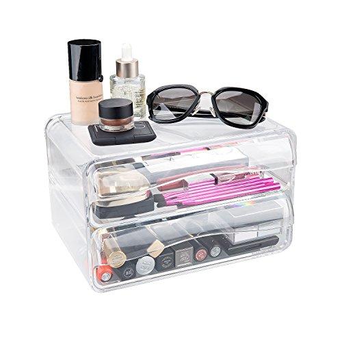 Ulinek Kosmetik Organizer Make Up Aufbewahrung Schmuck Aufbewehrungsbox aus Acryl Schublade, transparent und haltbar