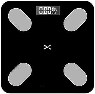 BINGFANG-W Balanza Cuerpo báscula de baño, Inteligente Bmi Escala LED Digital Báscula de baño Peso con App Bluetooth, 180Kg / 400 Libras Negro Cocina