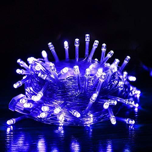 HH-HH LED Lichterketten, Multi Farbwechsel Lichterketten, Innen Dekorative Silberdraht Licht For Schlafzimmer, Terrasse, Einen Garten, Kinderwagen, DecorTree (Color : #3-10M 60LEDs(3PCS))
