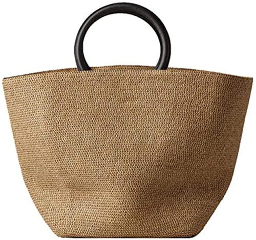 Straw Bag Women Handbag Bohemia Beach Bags Handmade Wicker Summer Tote big Bags Rattan Shoulder Messenger Bags