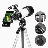 Gosky Telescopio Refractor de 70mm con Oculares, Lente Barlow 3X y Soporte para Teléfono