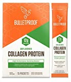 Bulletproof Collagen Protein Powder GoPack, Unflavored, 15 Pack, Grass Fed Collagen Peptides and Amino Acids for Healthy Skin, Bones and Joints, Keto Friendly