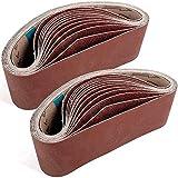 24pcs Sanding Belts 3 x 21 Inch, Belt Sander Sandpaper, Aluminum Oxide Sanding...