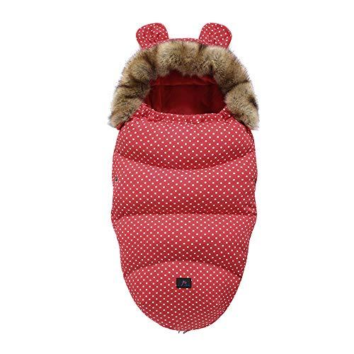Fikujap bebé recién Nacido de empañar Manta, multifunción Cochecito Wrap Dormir de la Estera Caliente Grueso Saco de Dormir para Muchachas de los bebés de 0-12 Meses,04