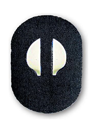 FixTape atmungsaktives Sensor-Tape für Medtronic Enlite I selbstklebendes Patch für Glukose-Sensor mit hohem Trage-Komfort I hautfreundlich und wasserfest in modernen Designs I 7 Stück (Schwarz)