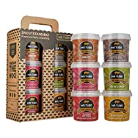 6 FLAVOUR GIFT PACK: UNIQUE TASTE & PREMIUM TEXTURE – simply outstanding quality, gourmet UK manufactured pork crackling, double hand cooked using select cuts of rind to deliver a mouth-watering pork snack experience. Our hand cooking technique, comb...