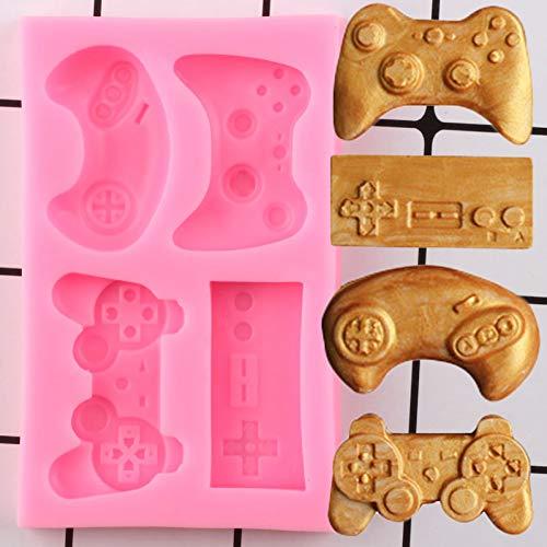 YUIOP Tastatur Silikonformen Controller Gamepad Spiel Fondantform Baby Party Kuchen Dekorationswerkzeuge Candy Clay Chocolate Gumpaste Mold