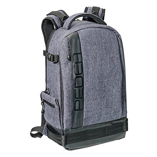 PEDEA DSLR Kameratasche Fashion mit Displayschutzfolie Rucksack grau