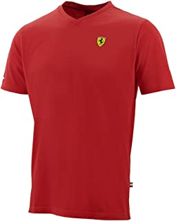 Ferrari Red Shield Vneck Tee Shirt (XX-Large)