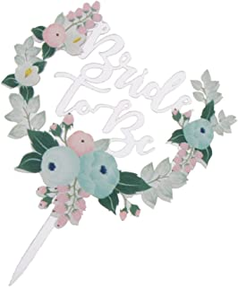 Baoblaze Novelty Bride to Be Flower Acrylic Cake Topper Wedding Bridal Shower Hens Night Bachelorette Party Cake Centerpie...