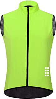 Men's Cycling Vest, Summer Breathable and Quick-Drying Sleeveless Reflective Raincoat is Suitable for Outdoor Running Trav...
