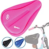 WINNINGO Kids Bike Gel Seat Cushion Cover, Child Bike Seat Cover 9'x6' Comfortable Small Bicycle Saddle Pad...