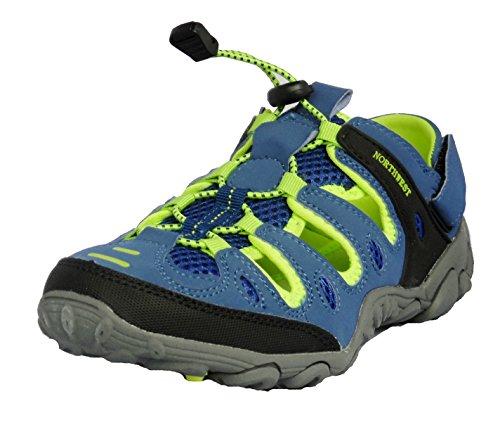 Northwest Territory Atlanta sandali da trekking per donne, ragazze, bambine, blu (Blue/Lime), 38