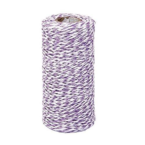 JER 100 m Cotton Küchengarn Geschenk Verpackung Baumwolseil Band Cotton Bakers Twine Perfekt für Backen, Metzger, Handwerk und Weihnachten Geschenkverpackung lila ArtSupplies