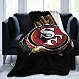 MasakoJMassie Die Hard '49er Fan' Flannel Blanket King/Cal King Size Fleece Blanket (60 X 50in 80 X 60in)
