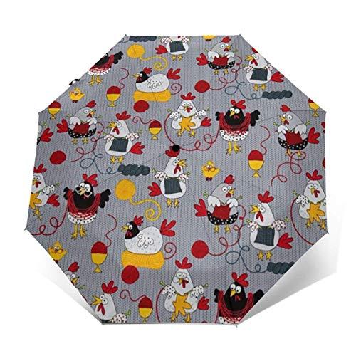 NA Lichtgewicht Draagbare Reisparaplu Versterkte Luifel 8 Ribben - Rode Kippen Grijs Golf Paraplu's Winddichte Regendichte Paraplu's