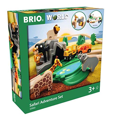BRIO Bahn 33960 - Großes Bahn Safari Set