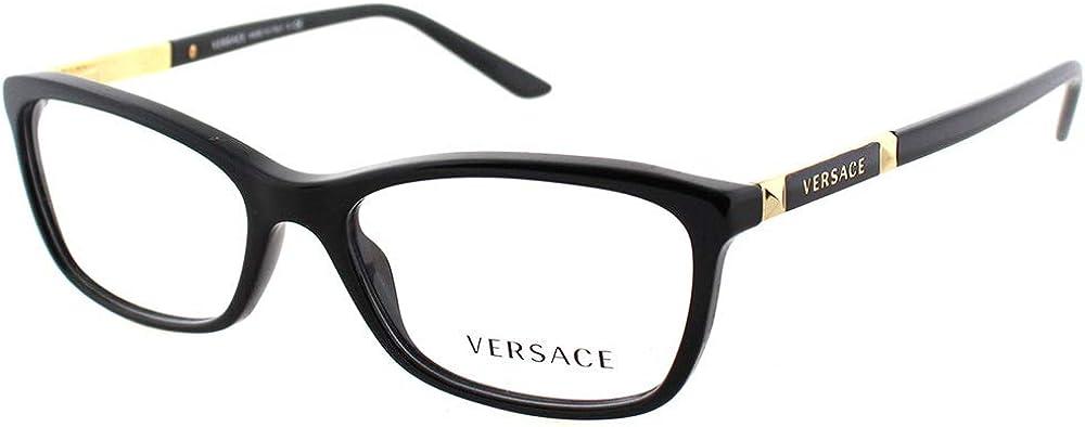 Versace VE3186 Eyeglass Frames GB1-54 - Black VE3186-GB1-54