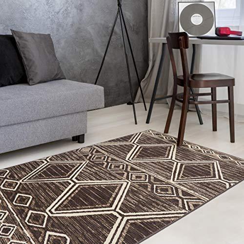Dezenco Tappeto Di Salotto berbero Undefined per Cocco, marrone, 60 x 110 cm